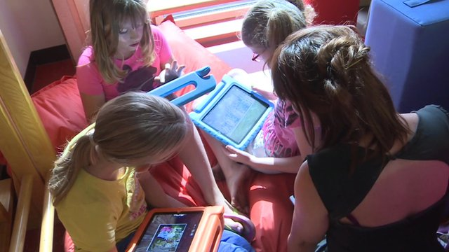 Pupils with tablet computers