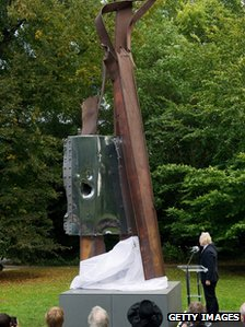 Mayor of London Boris Johnson unveiled the sculpture
