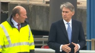 Philip Hammond oversees army vehicles return