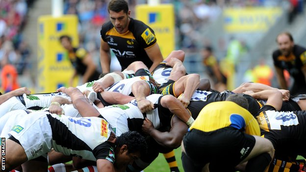 Wasps Harlequins scrum