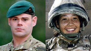 Corporals David O'Connor and Channing Day