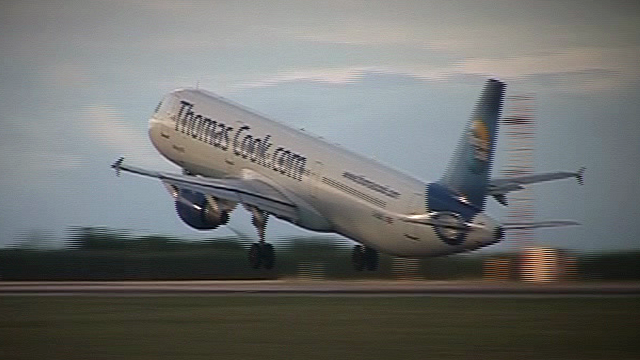 Thomas Cook aeroplane taking off