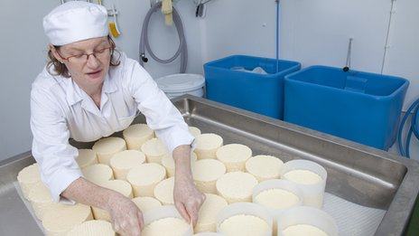 Kristen Schnepp, founder of Gringa Dairy, making Mexican cheese