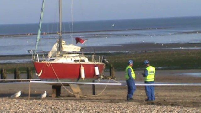 Boat off Sussex coast