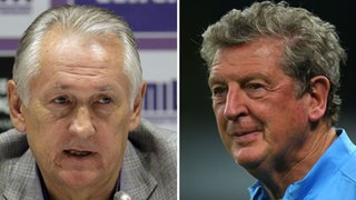 Mikhail Fomenko (left) and Roy Hodgson