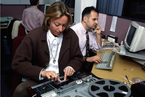 BBC news team in 1994