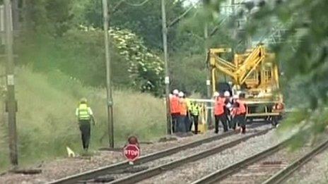 Network Rail worker dies when he falls from an aerial platform in Essex