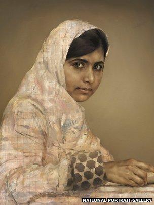 Malala Yousafzai portrait by Jonathan Yeo