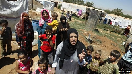 Refugees in the Bekaa valley, Lebanon