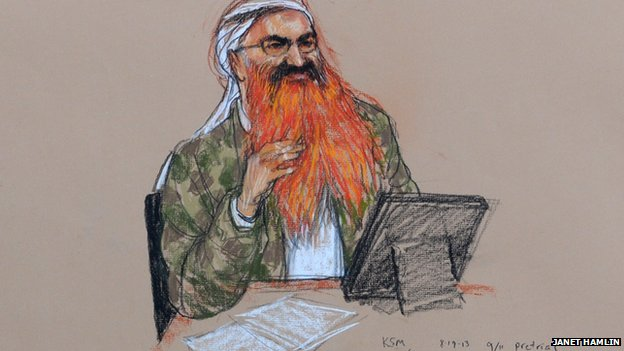 Courtroom illustration of Mohammed