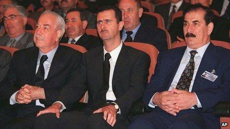 Bashar al-Assad at a Baath Party Congress in June 2000