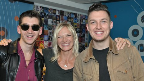 Jo Whiley and Arctic Monkeys