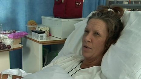 Holly-Ann Schofield in hospital bed in Brighton