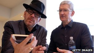 Elvis Costello and Tim Cook