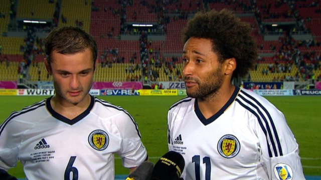 Scotland's Ikechi Anya and Shaun Maloney