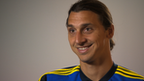 Swedish striker Zlatan Ibrahimovic