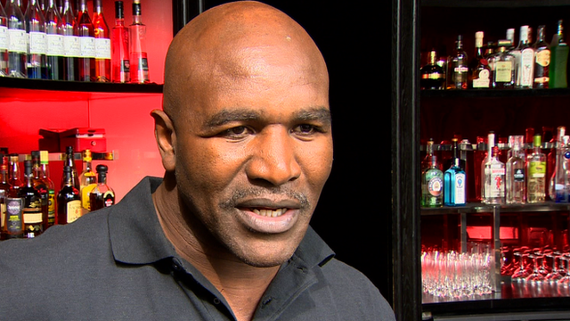 Former world heavyweight champion Evander Holyfield
