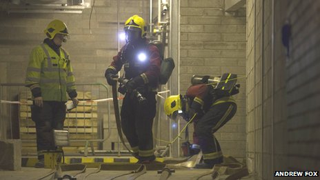 Firefighters in New Street tunnels