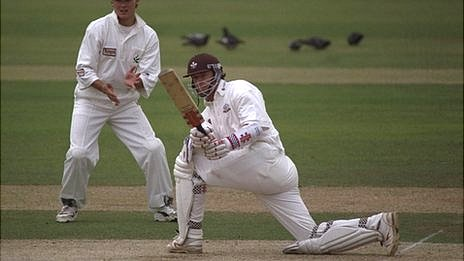 Jason Ratcliffe in action for Surrey in 1997