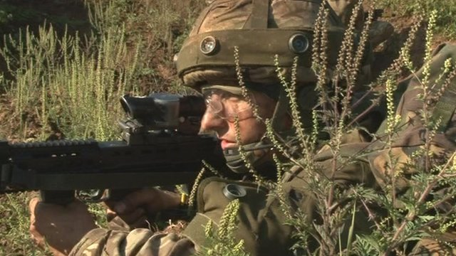 Royal Anglian reservist training in Croatia