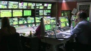 Inside a SIS truck at Wimbledon