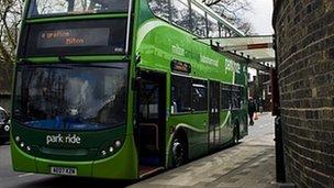 Park and ride bus, Cambridge