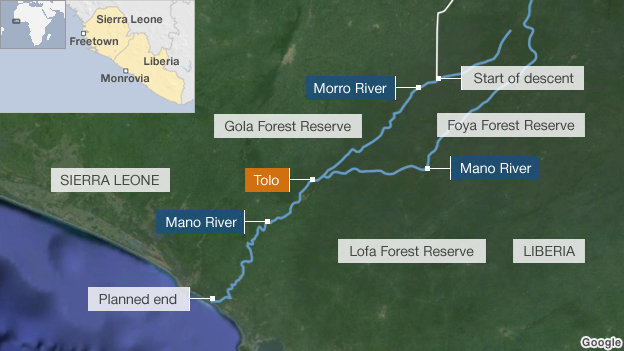 Map of the Mano river