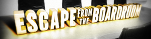 Escape from the boardroom 3-d letter logo