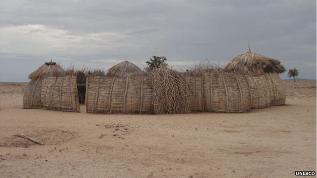 A typical Turkana homestead, Kenya