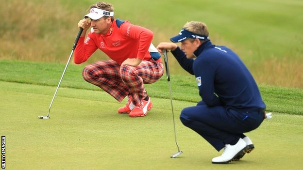 Ian Poulter (left) and Luke Donald have much to focus on in Chicago this week