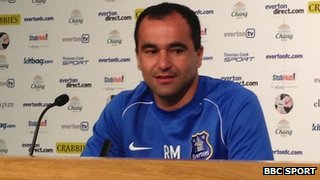 Everton manager Roberto Martinez