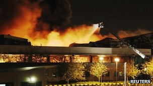 Fire at the Sony distribution centre