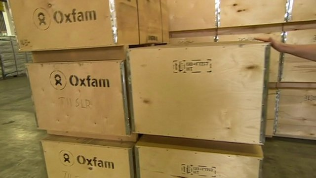 Oxfam aid boxes