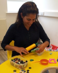 Jyothi Raichura, children's services practitioner, at the NSPCC centre in Coventry