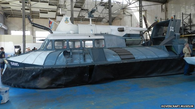 SR.N5 Hovercraft original on display