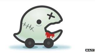Waze 'zombie' icon