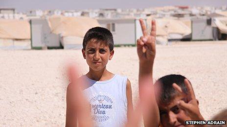 Children in the Zaatari refugee camp