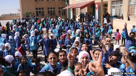 Rabia School for Girls, in Mafraq, north Jordan