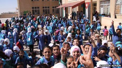 Rabia School for Girls, in Mafraq, north Jordan