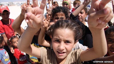 Children at the Zaatari camp