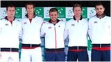 The Great Britain Davis Cup team prepare to face Croatia