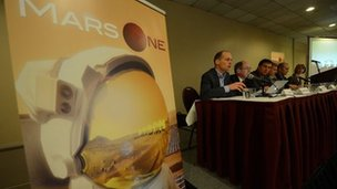 The Mars One astronauts application process was launched in New York in April