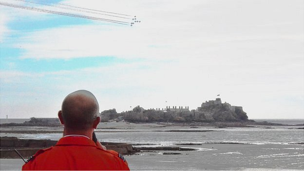 The Red Arrows at the Jersey International Air Display