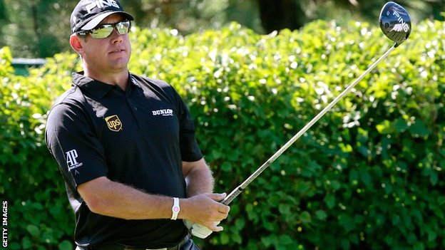 Lee Westwood in first-round action