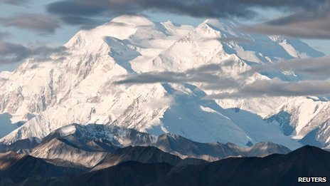 An undated photo shows Mount McKinley in Alaska