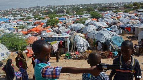 Camp for homeless in Mogadishu 8 Aug 2013