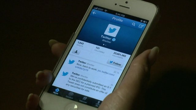 Twitter on a smartphone