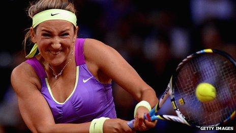 Belarusian tennis player Victoria Azarenka