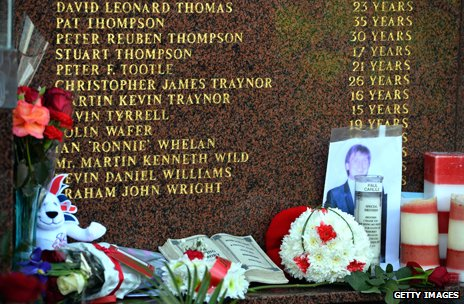 Hillsborough victims memorial at Anfield stadium, liverpool