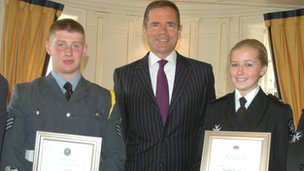 Two teenagers from the Isle of Man are selected for official duties as the Lieutenant Governor's Cadets